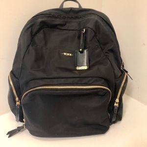 TUMI Voyageur Calais Black Nylon Backpack
